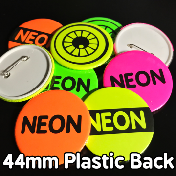 44mm Neon Pin Badges