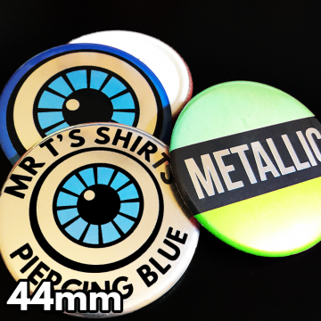 44mm Metallic Pin Badges