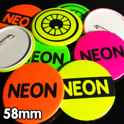 58mm Neon Pin Badges