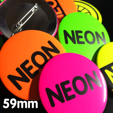 59mm Neon Pin Badges