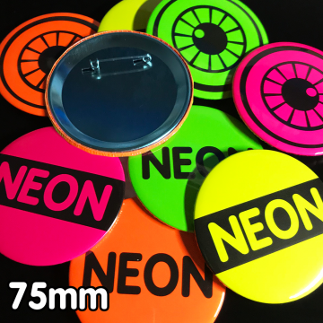 75mm Neon Pin Badges