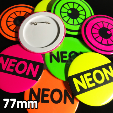 77mm Neon Pin Badges