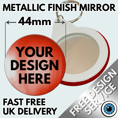 44mm Metallic Mirror Key Ring