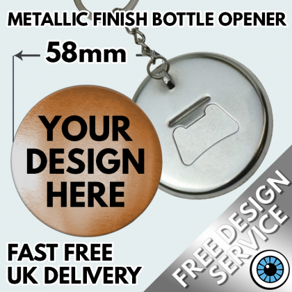 58mm Metallic Bottle Opener Keyrings