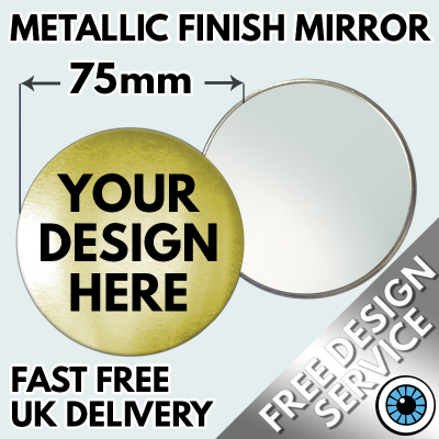 77mm Metallic Pocket Mirrors
