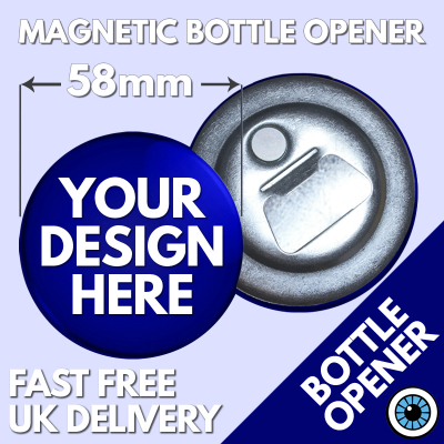 58mm Magnetic Bottle Openers