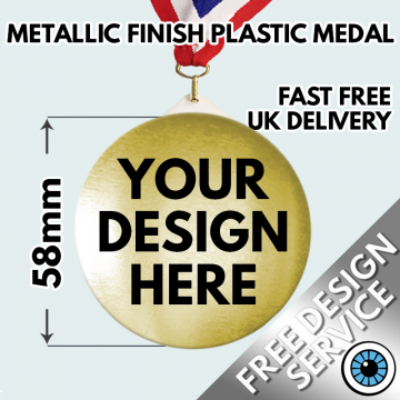 58mm Metallic Custom Medals