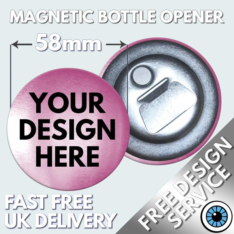 58mm Metallic Magnetic Bottle Openers