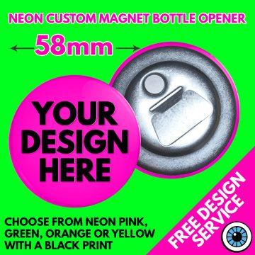 58mm Neon Bottle Openers