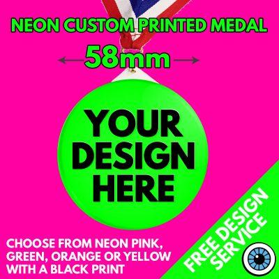 58mm Neon Plastic Medals