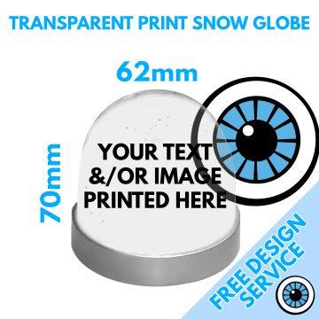Transparent Custom Printed Snow Globe