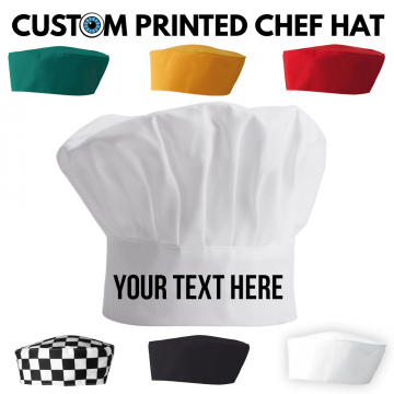 custom printed chef hat