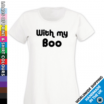 Ladies With My Boo Halloween T Shirt