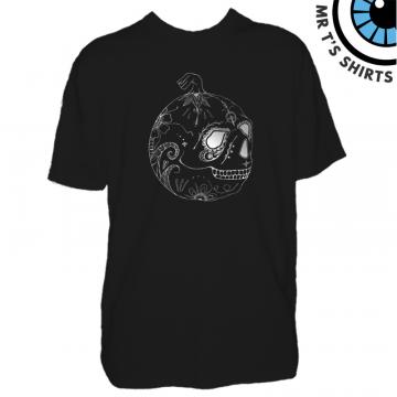 Screen Printed Sugar Skull Mens T-Shirt