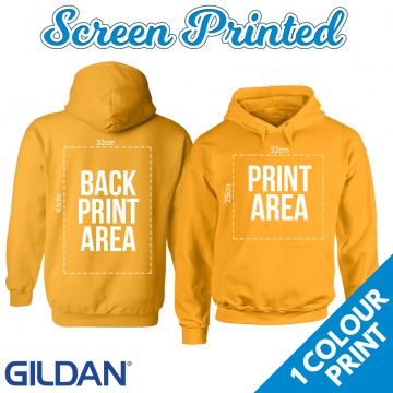 Adults Screen Printed Hoodie