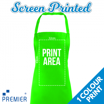 Adults Screen Printed Premier Aprons