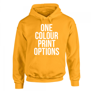 Screenprinted Hoodie 1 Colour Print