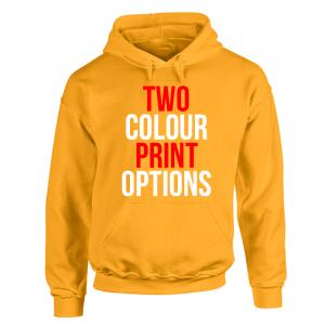 Screenprinted Hoodie 2 Colour Print
