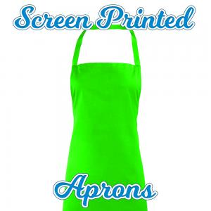 screenprinted apron