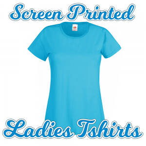 screenprinted ladies tshirt