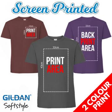 2 Colour Screen Printed