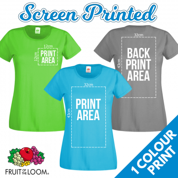 Ladies Screen Printed T-Shirts
