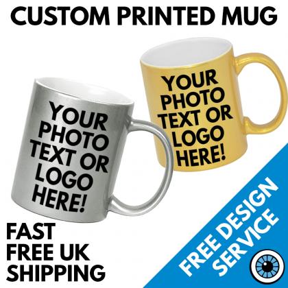 Sparkly Metallic Custom Printed