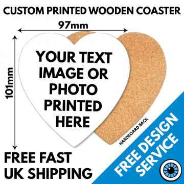 Heart Shaped Wooden Coaster