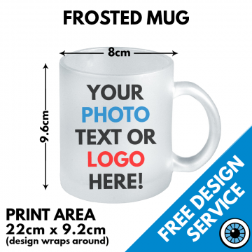 Frosted Glass Mug Custom