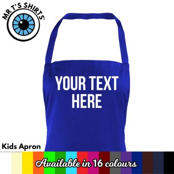 Kids Custom Text Apron