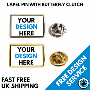 Rectangular Lapel Pin Badges