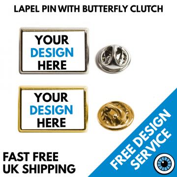 Rectangular Lapel Pin Badges