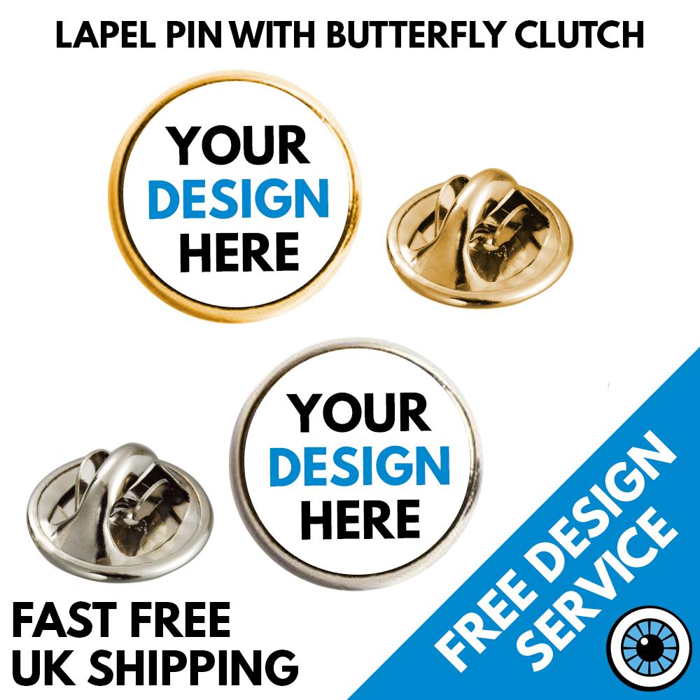 17mm Round Lapel Pin