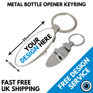 Metal Bottle Opener Keyring