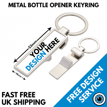 Rectangular Bottle Opener Keyring