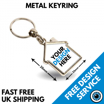 Metal House Shaped Key