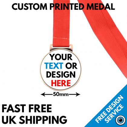 Custom Printed Metal Medal