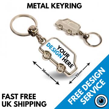 metal van keyring