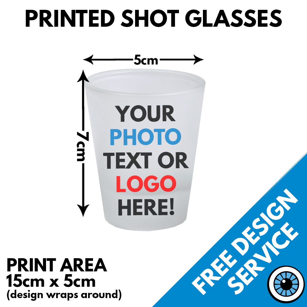 Printed Frosted Shot Glass
