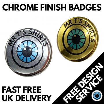 Chrome Effect Custom Badges