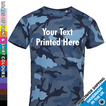 Men's Custom Text Camouflage