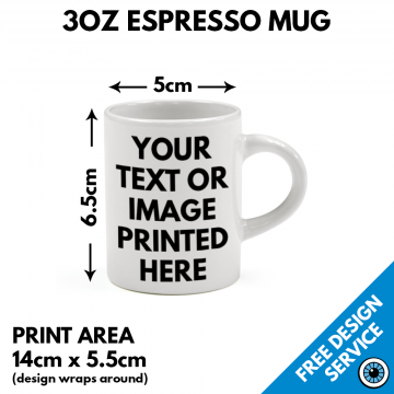 3oz Espresso Mugs - Custom Printed