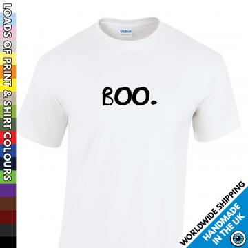 Mens Understated Boo Halloween T Shirt