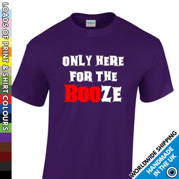 Mens Here For The Booze Halloween T Shirt