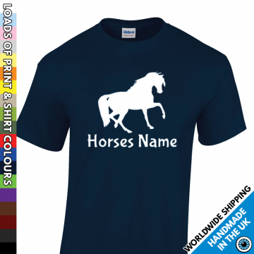 Mens Custom Horse T Shirt