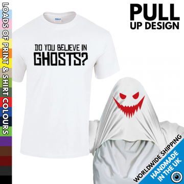 Mens Do You Believe In Ghosts T Shirt