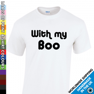 Mens With My Boo Halloween T Shirt