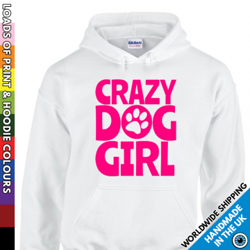 Kids Crazy Dog Girl Hoodie