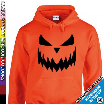 Kids Halloween Pumpkin Face Hoodie
