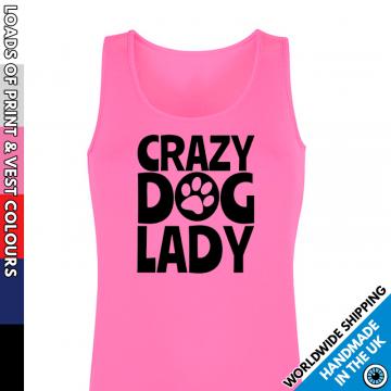 Ladies Crazy Dog Lady Vest
